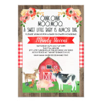 Baby shower farm invitation