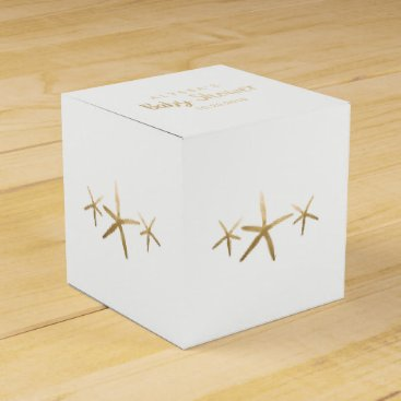 Beach Themed Baby Shower Favor Box, Customize, Beach Starfish Favor Box