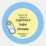 Baby Shower Favor Sticker - Baby Bottle