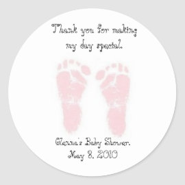 Baby Shower Favor Stickers