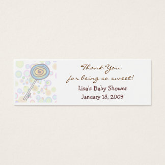 Baby Shower Favor Tag