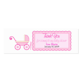 Baby Shower Favor Tag Business Card Template