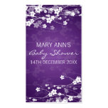Baby Shower Favor Tag Cherry Blossom Purple Business Card