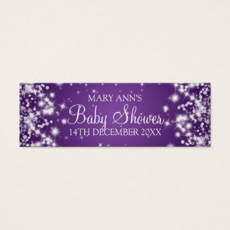 Baby Shower Favor Tag Winter Sparkle Purple