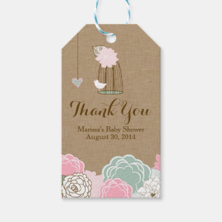 Baby Shower Favor Tags - Hanging Cages & Jars Pers