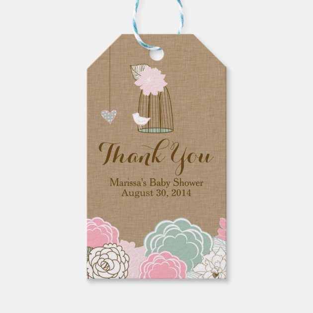 Baby Shower Favor Tags Hanging Cages Jars Pers Pack Of Gift Tags