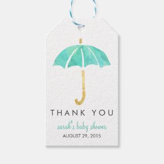 Baby Shower Favor Tags   Mint Umbrella