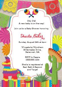 mexican theme invitations zazzle