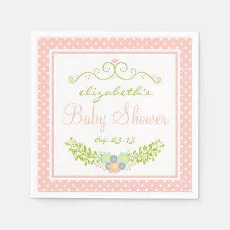 Baby Shower-Floral Paper Napkin
