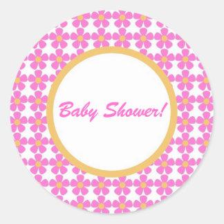 Baby Shower Flowers Sticker