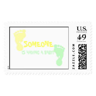 Baby Shower Footprints Stamps