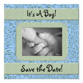 Baby Shower for a Boy Save the Date Card