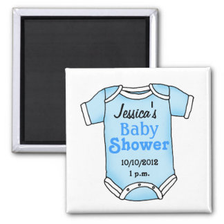 Baby shower for baby boy 2 inch square magnet