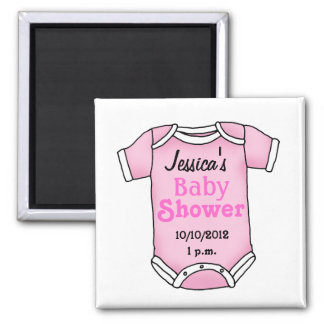 Baby shower for baby girl 2 inch square magnet