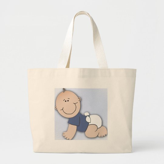 Baby shower for boy large tote bag