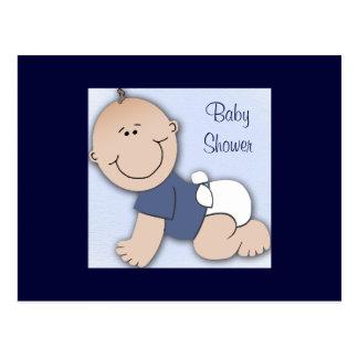 Baby shower for boy postcard