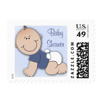 Baby shower for boy stamp