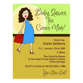 Baby Shower for Career Mom Postcard