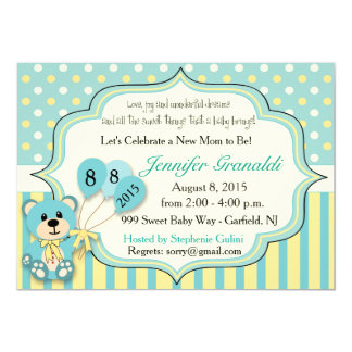 Baby Shower for Girl or Boy 5x7 Paper Invitation Card