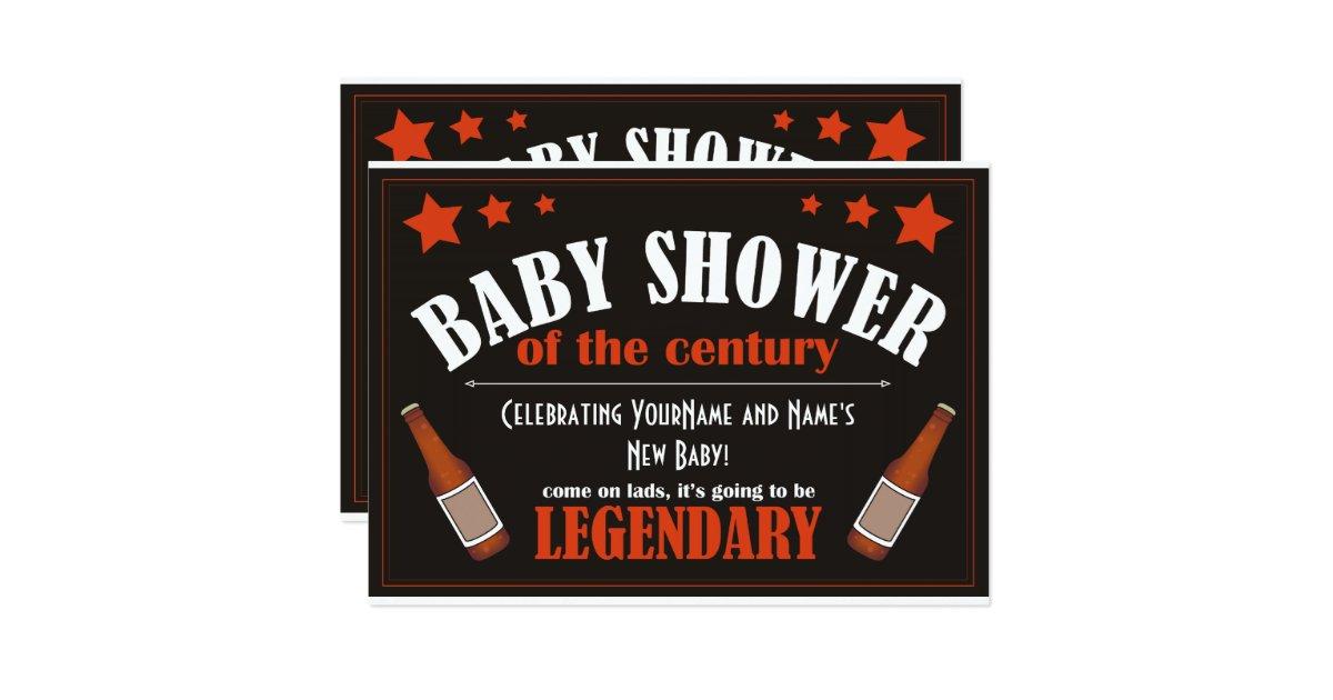 baby shower for men invitation zazzle