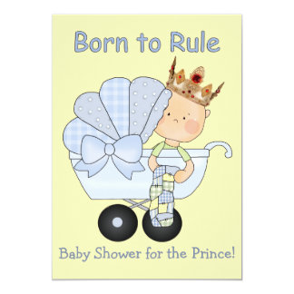 baby shower for the prince born to rule card