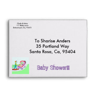 twin baby shower printed mailing envelopes zazzle