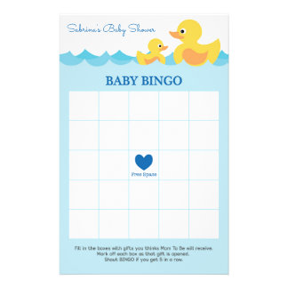 Baby Shower Game in Cute Rubber Duck Theme Flyer