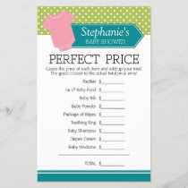Baby Shower Game Perfect Price - Pastel Pink Tee