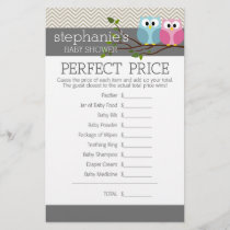 Baby Shower Game - Perfect Right Price