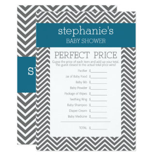 Baby Shower Game - Perfect Right Price Card