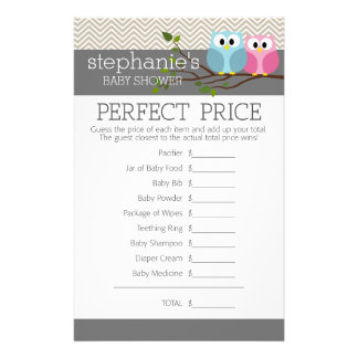 Baby Shower Game - Perfect Right Price Flyers