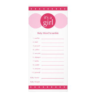 Baby Shower game- pinks Rack Card