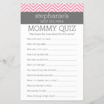 Baby Shower Game - Who Knows Mommy Best