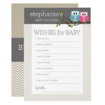 Baby Shower Game Wishes Card
