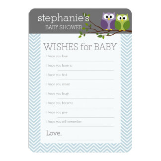 Baby Shower Game - Wishes for Boy Card