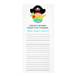 BABY SHOWER GAMES RACK CARD
