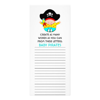 BABY SHOWER GAMES CUSTOMIZED RACK CARD