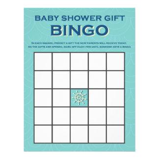 Baby Shower gift bingo boy nautical game Letterhead