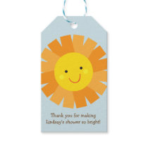 Baby Shower Gift Tag with Sunshine