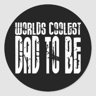 Baby Shower Gifts 4 Dads Worlds Coolest Dad to Be Round Sticker