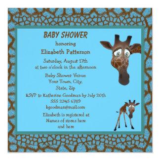 animal print baby shower invitations announcements zazzle
