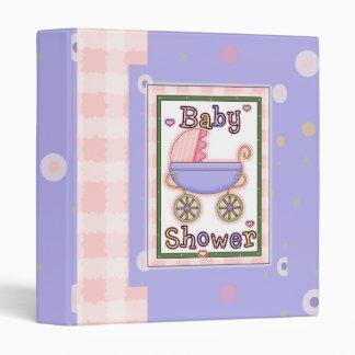 Baby Shower Girl 3 Ring Binder
