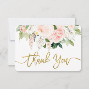 Baby shower girl anthurium thank you card