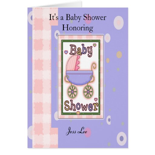 baby shower girl greeting card zazzle