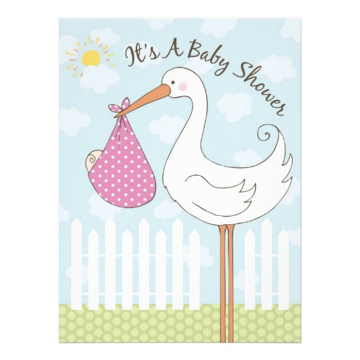 baby shower girl invitation 6 5 x invitation card zazzle