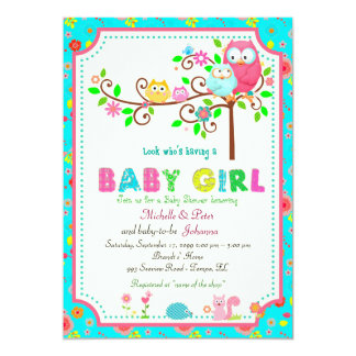Baby Shower Girl, modern, trendy, classy,colorful. Card