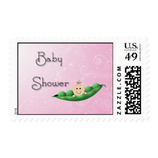 Baby Shower Girl Peapod Stamp