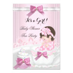 Baby Shower Girl Pink Baby Teacup Cupcake 4b Card