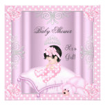 Baby Shower Girl Pink Princess Tiara Invites