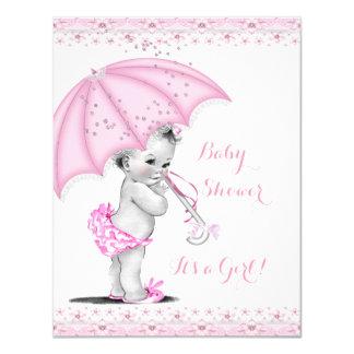 Baby Shower Girl Pink Sprinkle Umbrella Card